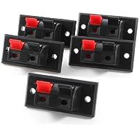 5 Pezzi 45mm x 21mm 2 Posizioni A spinta Giacca Carico Molla Audio Terminali Dei Diffusori