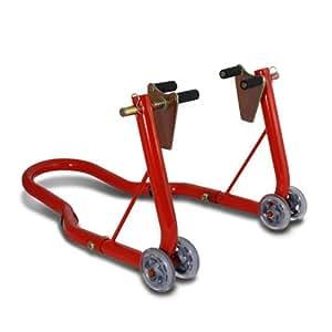 Béquille moto roue avant ConStands Classic Front rouge pour Ducati 1098, 1198, 1199 Panigale, 748, 749, 848/ Evo, 888, 916, 996, 998, 999, GT 1000