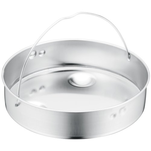 WMF Schnellkochtopf Einsatz, Dünsteinsatz, ungelocht, für Ø 18 cm, Cromargan Edelstahl, spülmaschinengeeignet