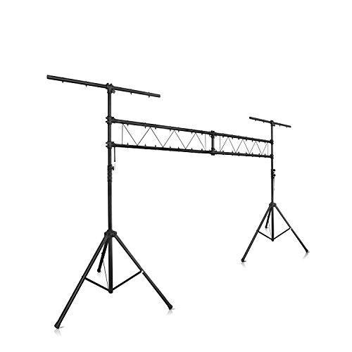 eSmart Germany Lichtstativ mit Traverse KOHAKON 4 m mit 36 Befestigungspunkten für Scheinwerfer - ideal für Bühnen- & Konzertbeleuchtung
