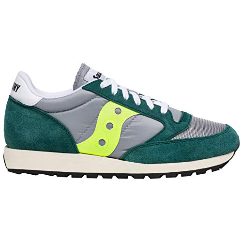 Saucony Herren Jazz Original Vintage Sneakers, Grau (Grey/Green/Neon 57), 45 EU (Herren-schuhe Saucony)