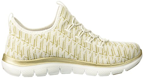 Skechers Flex Appeal 2.0-Insights, Sneaker Infilare Donna White Gold