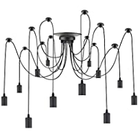 PrimeMatik   Lampe Für 12 Glühbirnen Von E27 Gewinde Mit ...
