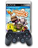 PlayStation 3 - DualShock 3 Wireless Controller, schwarz + Little Big Planet 3