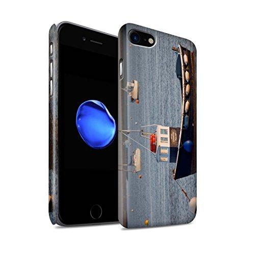 STUFF4 Matte Snap-On Hülle / Case für Apple iPhone 8 / Küste Muster / Britischen Küste Kollektion Verankerten Boot