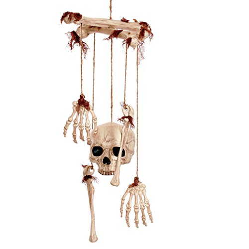 Halloween Horror Dekorative Produkte Haunted House Requisiten Simulierte Skeleton Suspension Set Bone Rack