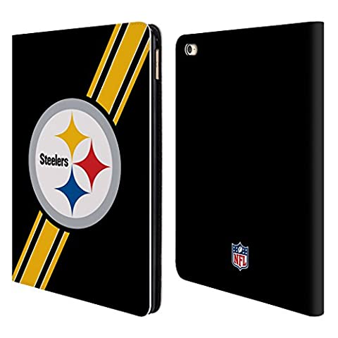 Official NFL Stripes Pittsburgh Steelers Logo Leather Book Wallet Case Cover For Apple iPad Air 2