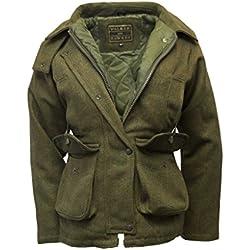 Walker & Hawkes - Veste Derby pour femme - tweed - pour la chasse/campagne - sauge foncé - 36