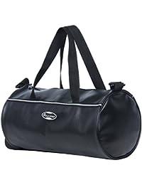 """POLESTAR """"Leatherette """" 26 Lts Black Duffel Gym Bag Backpack"""