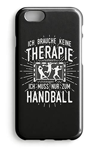 shirt-o-magic Handyhülle Handballer: Therapie? Lieber Handball - Case -iPhone 7-Schwarz