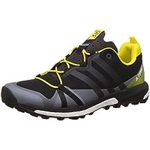 adidas Terrex Agravic, Zapatos de Senderismo para Hombre, Negro (Nero Negbas/Negbas/Amabri), 44 EU