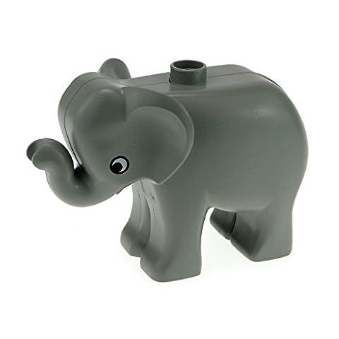 1 x Lego Duplo Tier Baby Elefant klein alt-hell grau Tier Zirkus Zoo Park Safari elephc01pb01