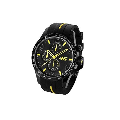 Valentino Rossi VR46 Chronograph schwarze Armbanduhr Offiziell 2017