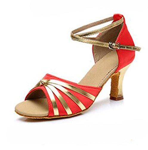 Kuki Zapatos De Baile Para Mujer Con Zapatos De Baile Latino Para Mujeres Con Tacón Alto 7 Cm 5