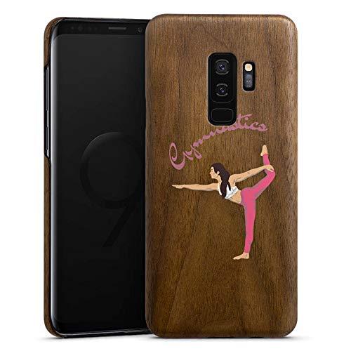 DeinDesign Holz Hülle kompatibel mit Samsung Galaxy S9 Plus Duos Holz Schutzhülle Echtholz Handyhülle Gymnastic ohne Hintergrund Hobby