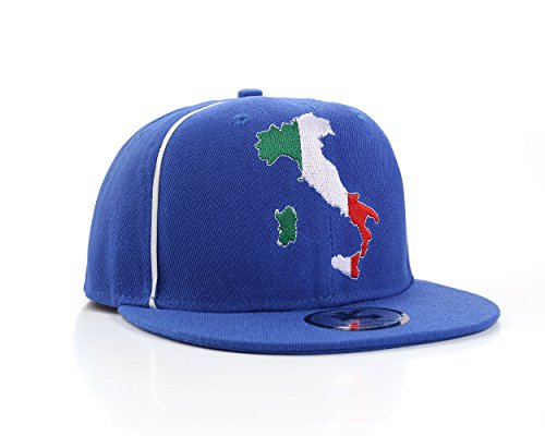 Italie Pays Bleu Casquette De Baseball Réglable (Italy Snapback)