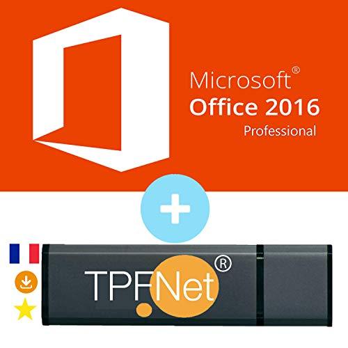 Office 2016 Professionnel 32/64 Bits - Clé de Licence Originale avec Clé USB de - TPFNet®