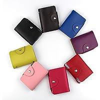 RayLineDo Unisex Multi colore in vera pelle porta carte di credito Slim Business Card Case Borsa Super sottile morbido minimalista portacarte con 26scomparti per carte, mix, 10*7*2