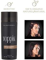TOPPIK - Fibres Capillaires Densifiantes - Châtain - 55 g