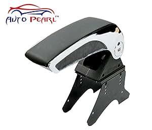 Auto Pearl- Universal Big Car Armrest Centre Console Hand Rest - Black Chrome - Mahindra Verito
