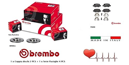 08958011-P50090 Kit Dischi e Pastiglie freno Posteriori Brembo