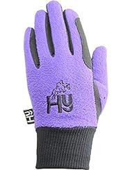Hy5 - guantes de invierno infantil negro/púrpura, color , tamaño XL