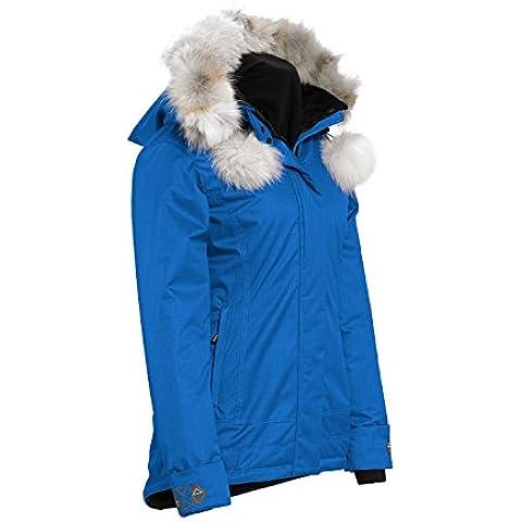 La naturaleza de cuarzo mujeres Anouk Isosoft rwood chaqueta con piel de Coyote - medio/zafiro