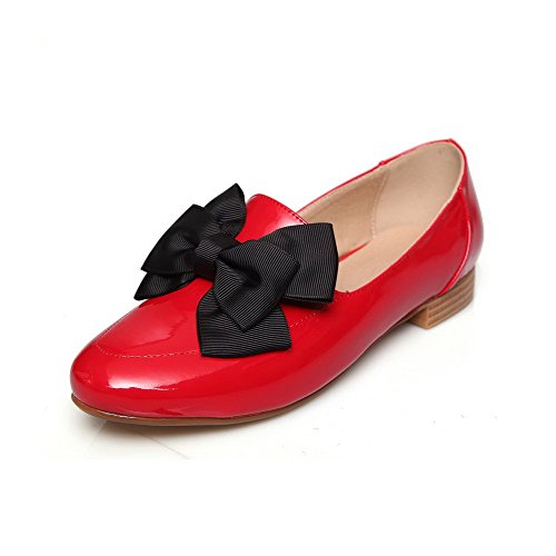 allhqfashion-womens-low-heels-solid-pull-on-patent-leather-round-closed-toe-pumps-shoes-red-35