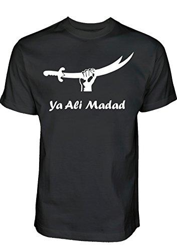Ya Ali Madad Zulfiqar T-Shirt Ashura Muharram Shirt von Schia-Shop - Schiitische Shia Islam Kleidung (XL, Schwarz)