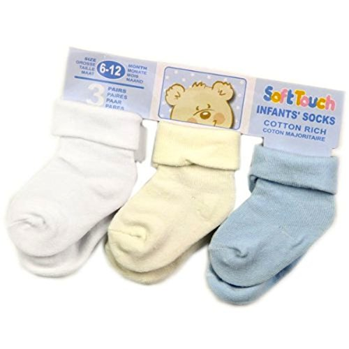 Blue Roll-socken (Soft Touch Baby Jungen (0-24 Monate) Socken Blau blue/cream/white 612mon)