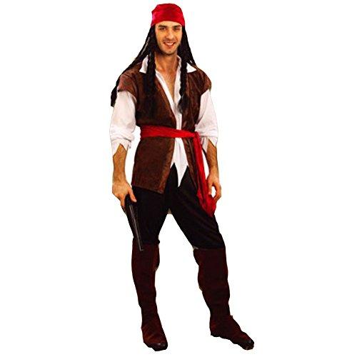 Männliche Piraten Kostüm Für Erwachsene - Robo Herren Kostüm Set Pirat Halloween