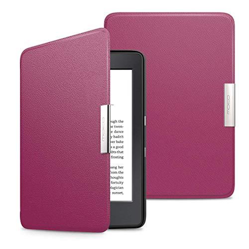 MoKo Kindle Paperwhite Hülle - Ultra Leightweight Slim Schutzhülle Smart Cover mit Auto Sleep / Wake Funktion für Alle Kindle Paperwhite (2016 / 2015 / 2013 Modelle mit 6 Zoll Bildschirm), Nicht Kompatibel für All-new Paperwhite 10th generation 2018, Violett