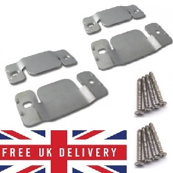 Metal Interlocking Connecting Clips For Sofas And Furniture X 2 Pairs With Screw - cheap UK light store.