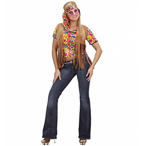 Widmann Generique - Veste Hippie Marron à Franges Femme Taille M