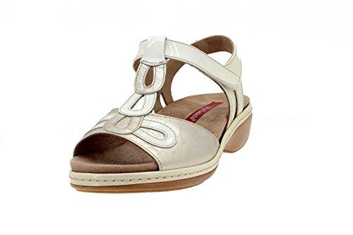 Scarpe donna comfort pelle Piesanto 4820 sandali soletta estraibile comfort larghezza speciale Nieve
