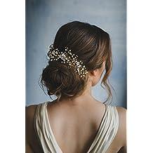 ea13e81c8f86 Kercisbeauty fatto a mano da sposa damigelle piccolo fiore bianco e perla  fascia vintage Vine Spring