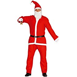 Guirca - Disfraz Papá Noel adulto, talla L, color rojo (42692.0)