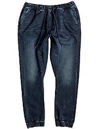 Quiksilver Fonic Blue Black - Slim Fit Jeans mit Jogger-Stil für Männer
