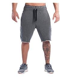 d78f9dece1f THEE Homme Pantalons Shorts de Sport Fitness Entraînement de Gymnastique