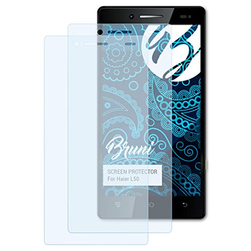 Bruni Schutzfolie für Haier L50 Folie, glasklare Bildschirmschutzfolie (2X)