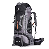CARACHOME Large-capacity Hiking Backpack, 80L Outdoor Adjustable Waterproof Men and Women Trekking Rucksack,Black