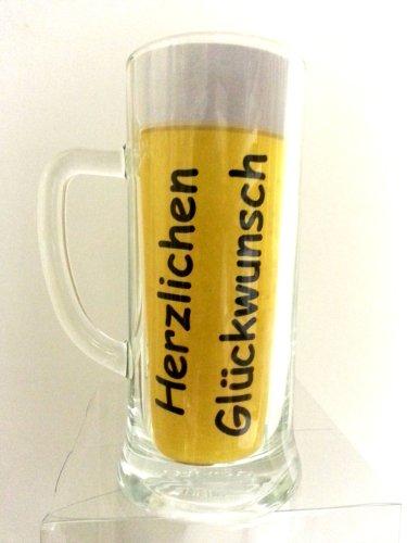 45. Geburtstag Geschenk Set, Bierset Bier Geschenk zum 45. Geburtstag das bei Frau und Mann immer gut ankommt, Bierflasche mit Etikett, Glas Bierkrug und Geschenk Postkarte