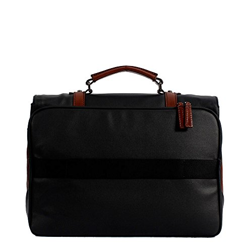 The Bridge Hydro Messenger Tasche Leder 42 cm Laptopfach brown-black-gunmetal