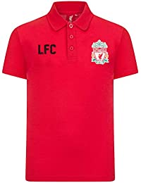 86c4518f94d Liverpool FC Official Football Gift Boys Crest Polo Shirt