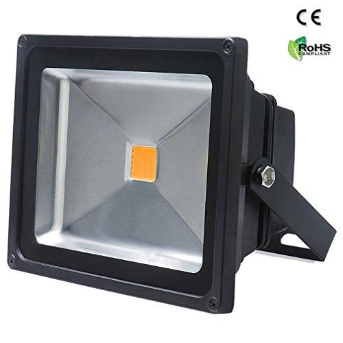 Auralum 50W LED Außenstrahler Fluter Flutlichtstrahler, 4500 Lumen 230V IP65 Wasserdicht 3000K Warmweiß, 10 Jahre Garantie