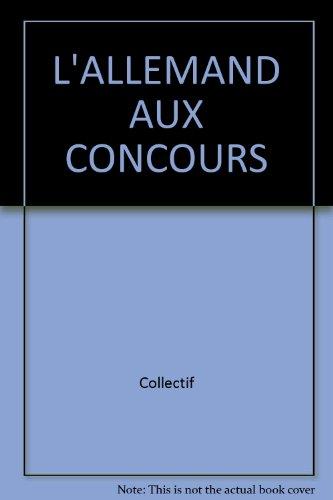 L'ALLEMAND AUX CONCOURS