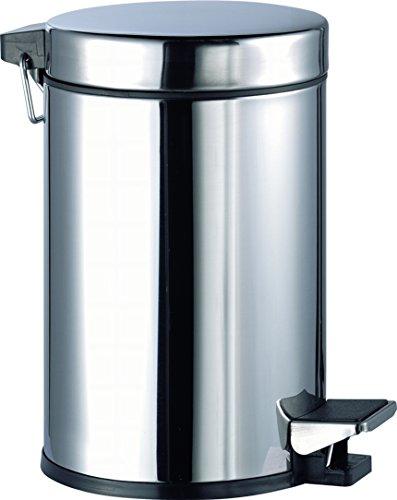 aqualy® - Poubelle à pédale en inox (5 litres)