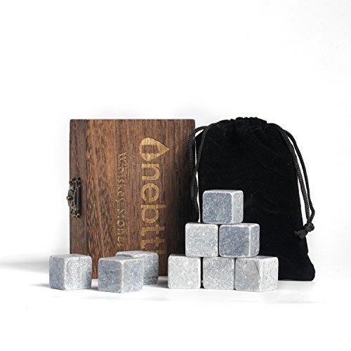 Whisky Steine Aus Natürlichem Speckstein Zum Kühlen Von Whiskey Geschenke Für Whiskyliebhaber - Wiederverwendbare Eiswürfel - Weihnachten Whiskyzubehör, Kühlwürfel, Erntedankfest Bar Accessoire