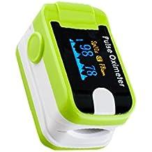 Denshine OLED Pulsioxímetro, incluye alarma sonora, sonido de pulso oxímetro de dedo–SPO2monitor Puls