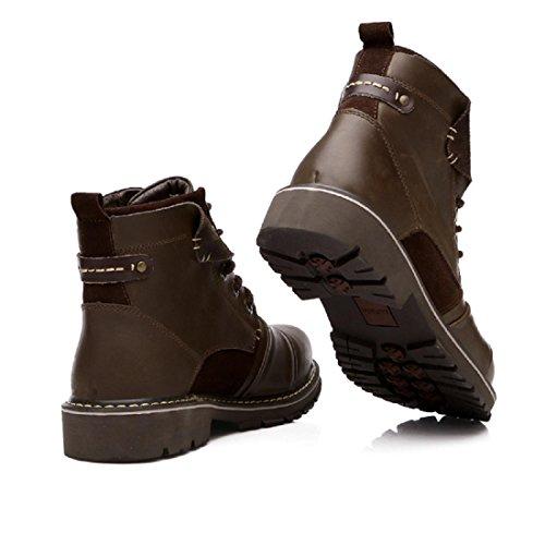 Pour Des Hommes RéTro Chaussures Bottes En Cuir Outillage DéSert Bottes Martin brown